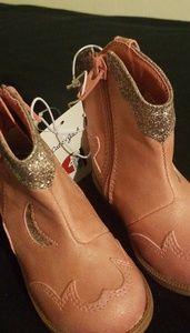 Girls Western Boot Pink